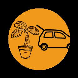 lilla toscana växthotell illustration inlämning växter